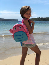 Load image into Gallery viewer, Coral Miss Crab Kids Backpack