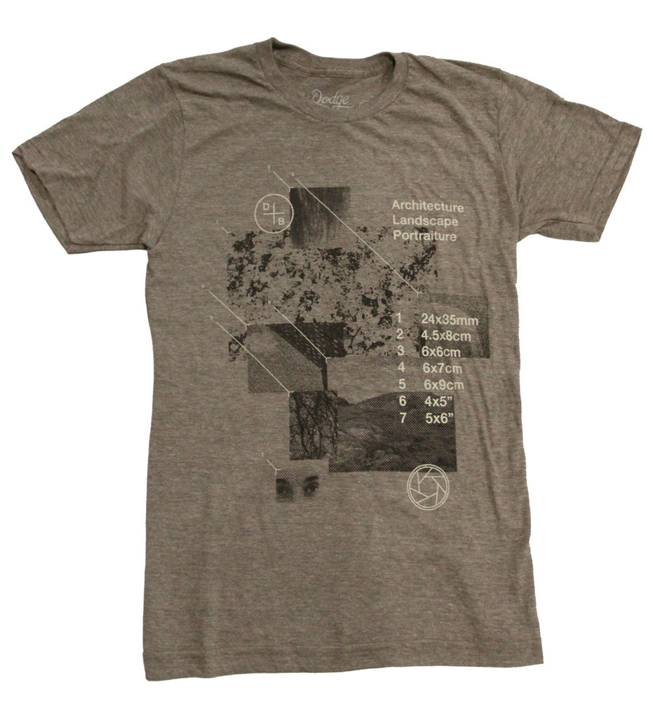 Medium Format Photography - Tri-Coffee - Unisex Shirt - Dodge & Burn