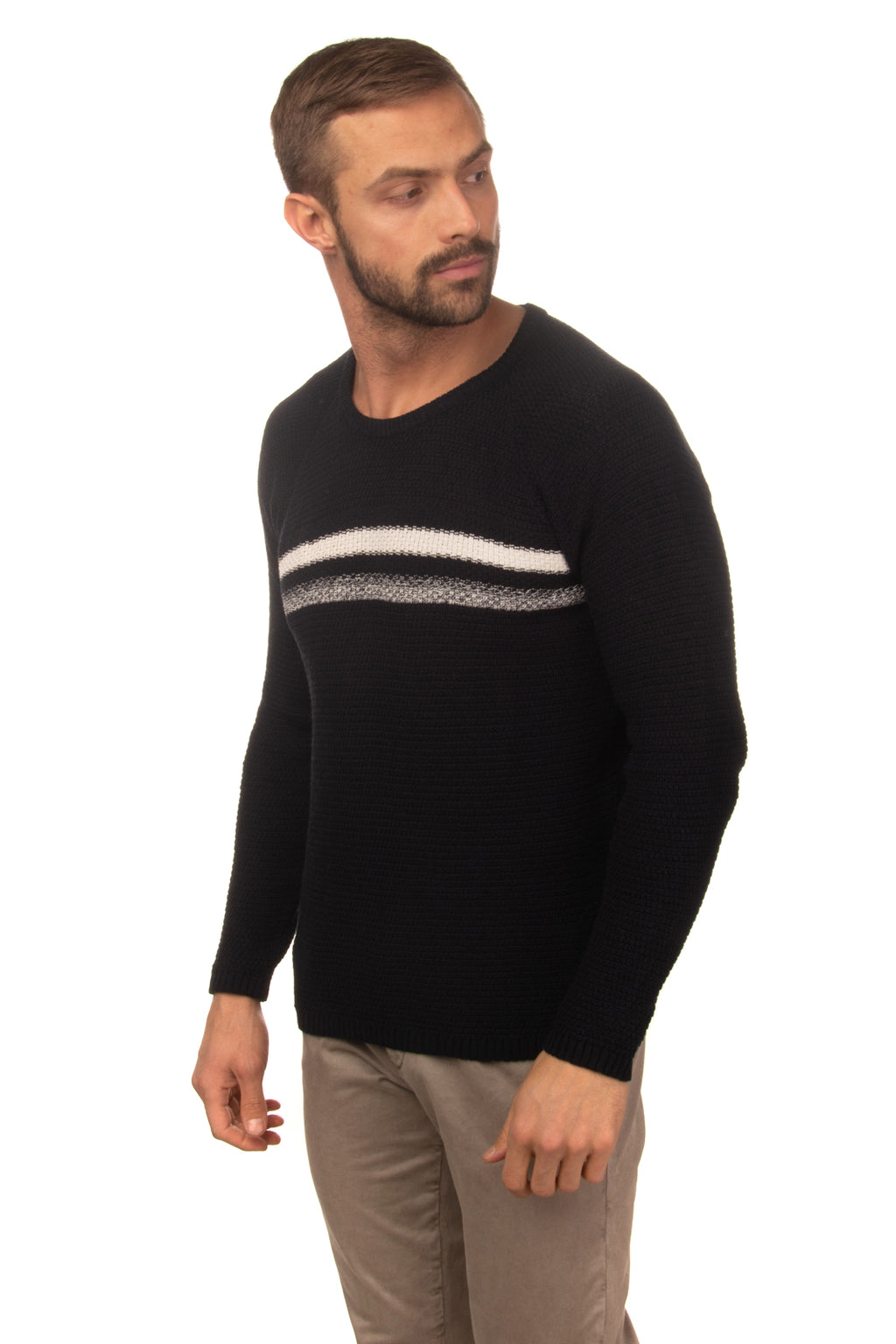 LIU JO UOMO Jumper Size L Long Raglan Sleeve Crew Neck Made in Italy GIROMAIS