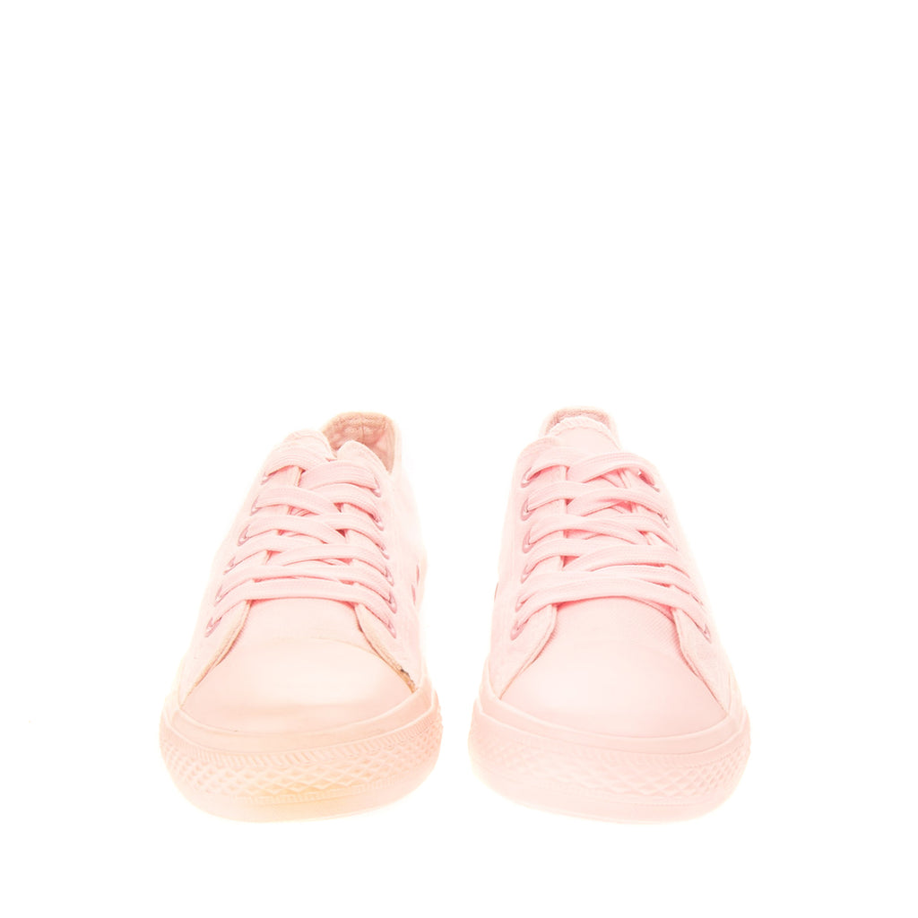 Canvas Sneakers Size 38 UK 5 US 8 Pink Grommets Low Top Lace Up Closure