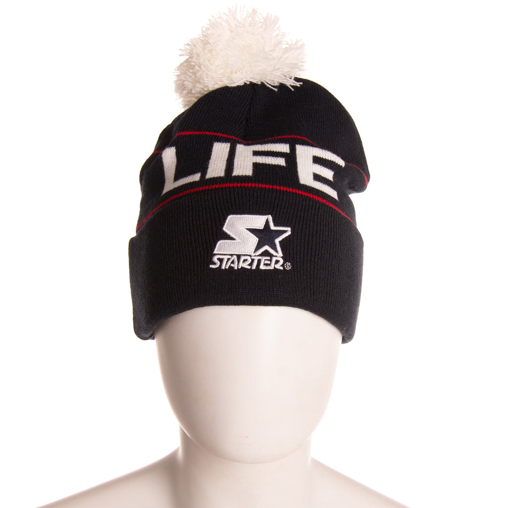 WEMOTO X STARTER BLACK LABEL Bobble Turn Up Beanie Cap One Size 'EASY LIFE'