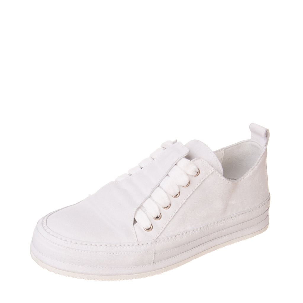 RRP €695 ANN DEMEULEMEESTER SCAMOSCIATO INGRASSATO Leather Sneakers EU38 UK4 US5