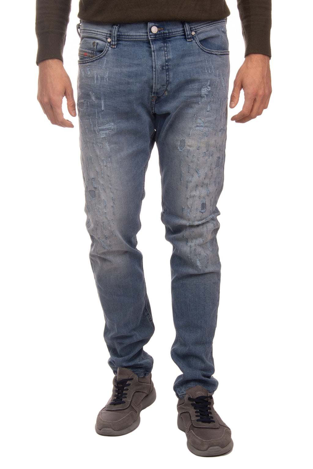 DIESEL Jeans W34 L34 Ripped Faded Patched Inside Carrot TEPPHAR 084QS STRETCH