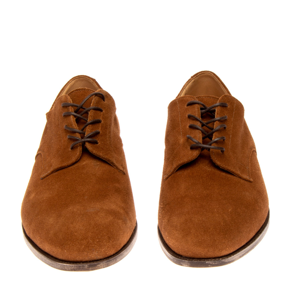 RRP €435 TRICKER'S Suede Leather Derby Shoes Mismatch Size L 46 R 48 Lace Up