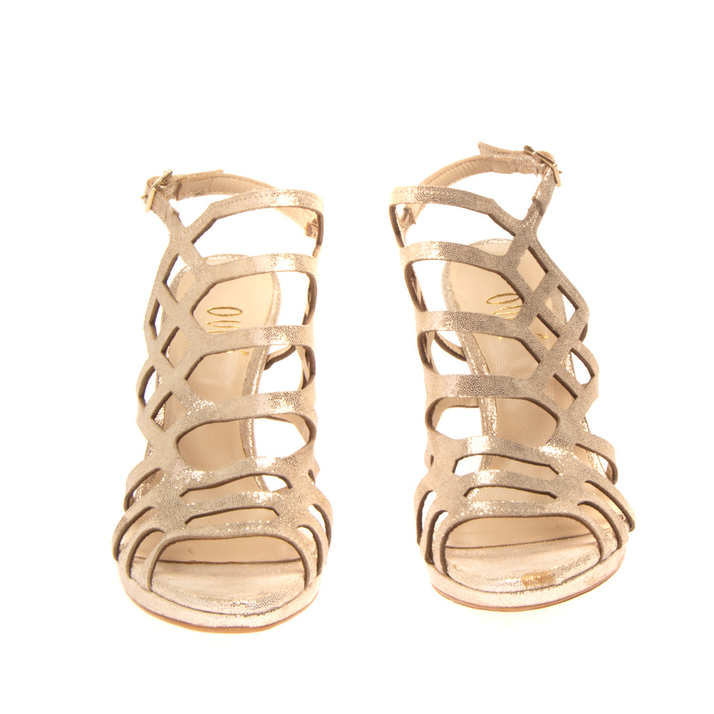 RRP €110 OVYE' By CRISTINA LUCCHI Leather Ankle Strap Sandals Size 37 UK 4 US 7