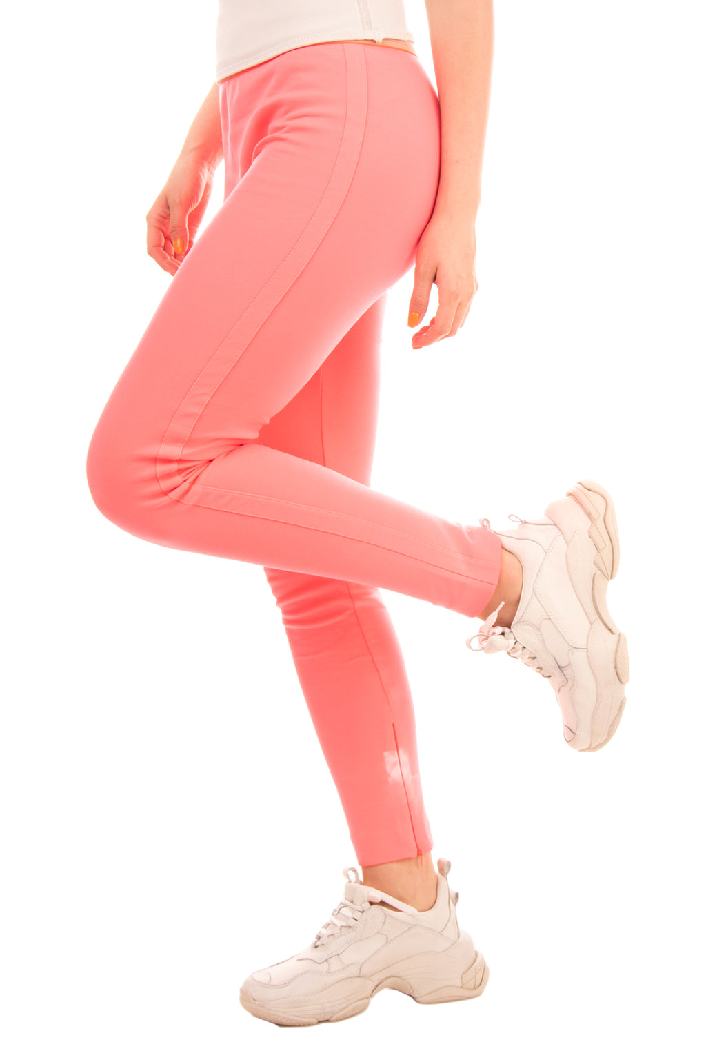 RRP€150 MAURIZIO PECORARO Leggings Size 48 Fluorescent Elasticated Made in Italy