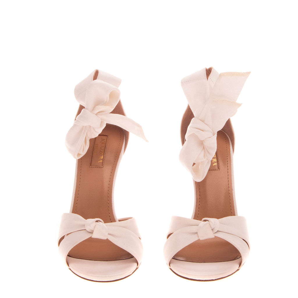 RRP €820 AQUAZZURA ALL TIED UP Ankle Strap Sandals EU 37 UK 4 US 7 Made in Italy