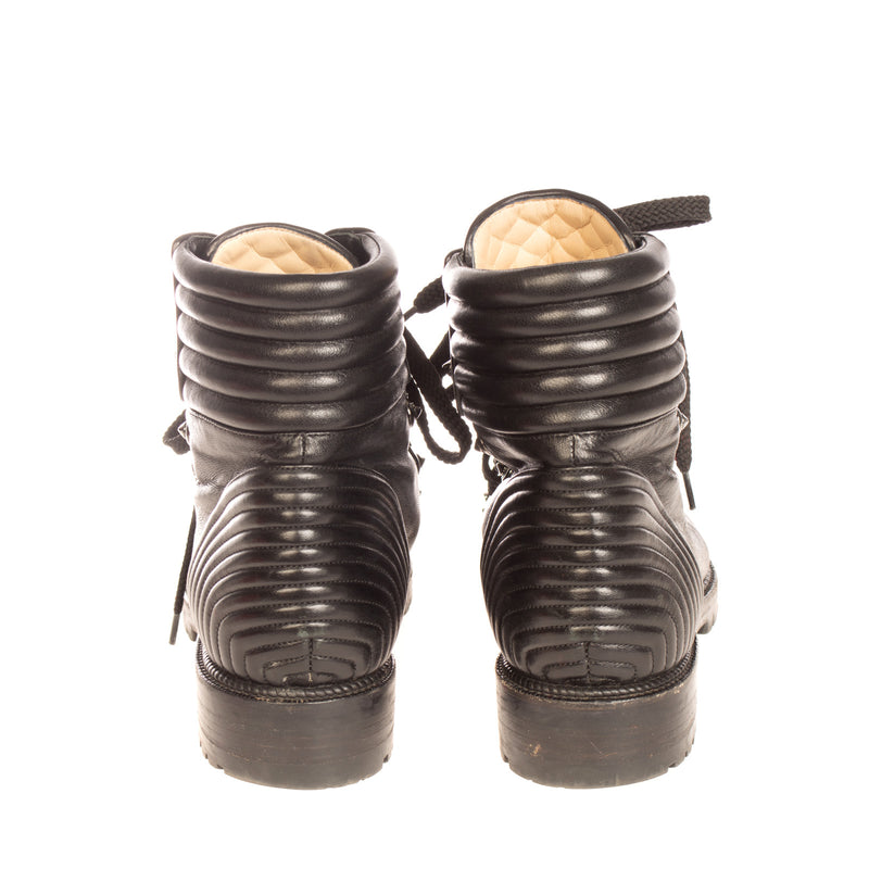 RRP €935 CHRISTIAN LOUBOUTIN Leather Ankle Boots EU 39 UK 6 US 9 Made in Italy