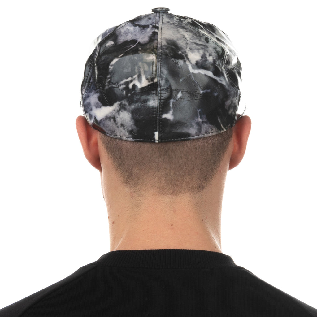 MSGM Baseball Cap Size M Marble Pattern Flat Peak Fitted Made in Italy