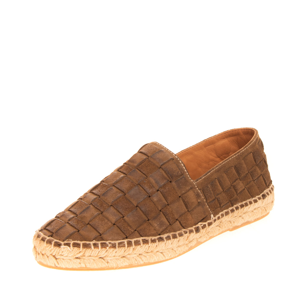 RRP€150 PREVENTI Leather Espadrille Shoes EU 35 UK 2 US 5 Basket Weave Treated