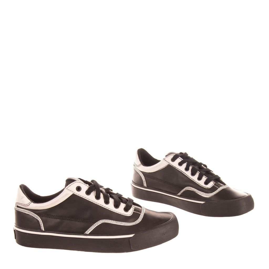 RRP €150 DIESEL S-FLIP LOW Sneakers Size 43 UK 9 US 10 Two Tone Stitched Low Top