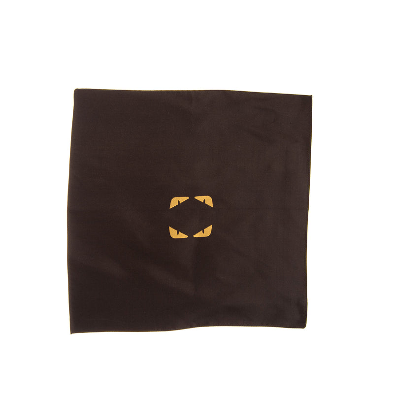 RRP €385 FENDI ROMA Silk Pocket Square Handkerchief Monster Eyes Made in Italy
