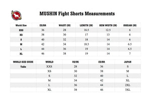 BULL TERRIER -MUSHIN- Fight Shorts Black