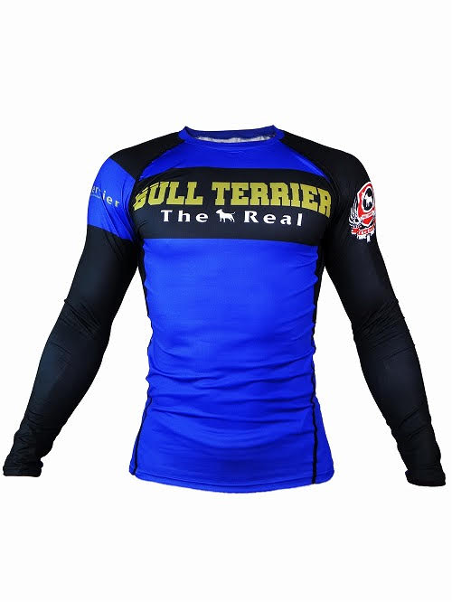 BULL TERRIER-THE RANGER-Rash Guard Long Sleeve Blue