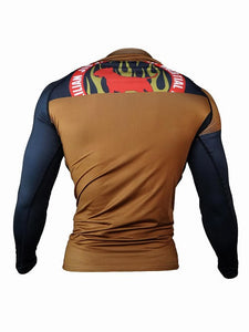 BULL TERRIER-THE RANGER- Rash Guard Long Sleeve Brown