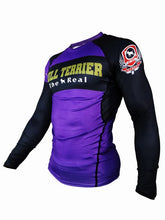 Load image into Gallery viewer, BULL TERRIER-THE RANGER-Rash Guard Long Sleeve Purple