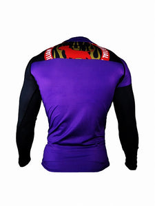 BULL TERRIER-THE RANGER-Rash Guard Long Sleeve Purple