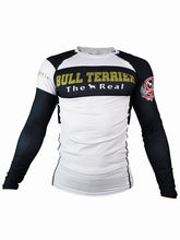 Load image into Gallery viewer, BULL TERRIER-THE RANGER-Rash Guard Long Sleeve White