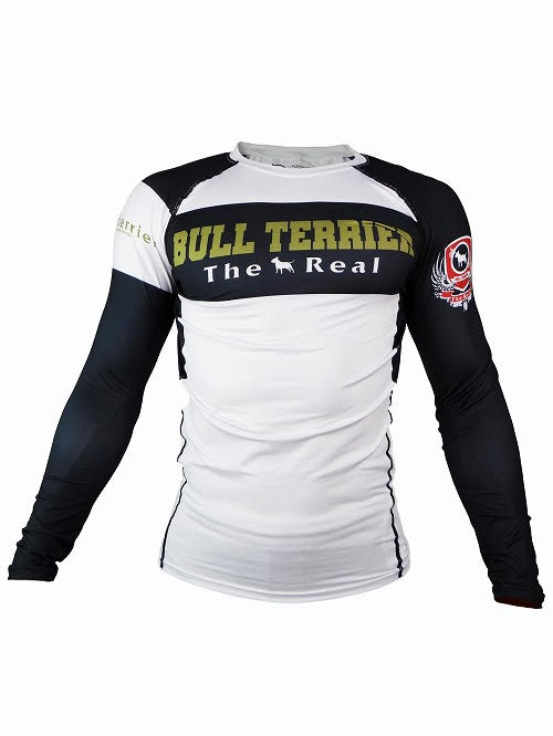 BULL TERRIER-THE RANGER-Rash Guard Long Sleeve White