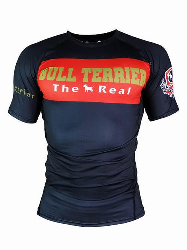 BULL TERRIER -THE RANGER- Rash Guard Short Sleeve Black