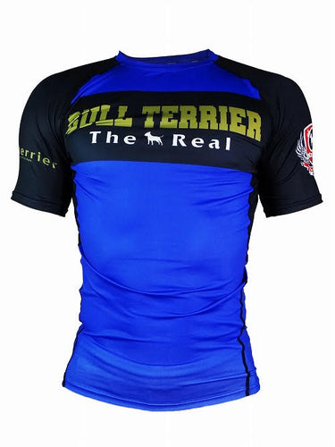 BULL TERRIER-THE RANGER-Rash Guard Short Sleeve Blue
