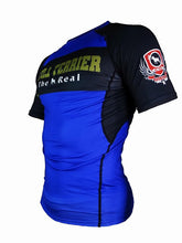 Load image into Gallery viewer, BULL TERRIER-THE RANGER-Rash Guard Short Sleeve Blue