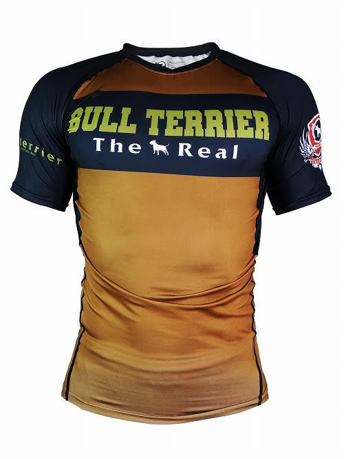 BULL TERRIER-THE RANGER-Rash Guard Short Sleeve Brown