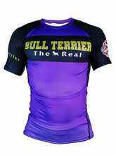 Load image into Gallery viewer, BULL TERRIER-THE RANGER-Rash Guard Short Sleeve Purple