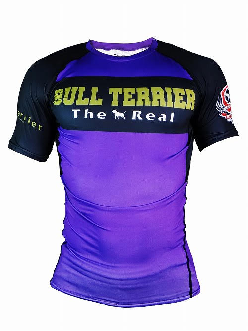 BULL TERRIER-THE RANGER-Rash Guard Short Sleeve Purple