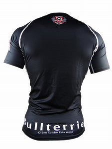 BULL TERRIER -STANDARD- Rash Guard Short Sleeve Black