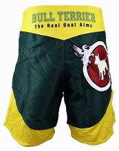 Load image into Gallery viewer, BULL TERRIER-MT FIRE GREEN/YELLOW-FIGHT SHORTS