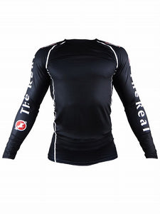 BULL TERRIER -STANDARD- Rash Guard Long Sleeve Black
