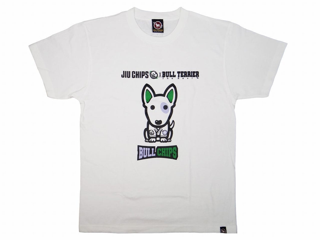 BULL TERRIER -BULL CHIPS- T-Shirt White/BLACK