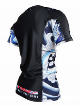 Load image into Gallery viewer, BULL TERRIER -ASHURA- Rash Guard Short Sleeve Black