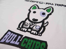 Load image into Gallery viewer, BULL TERRIER -BULL CHIPS- T-Shirt White/BLACK