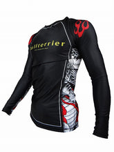 Load image into Gallery viewer, BULL TERRIER -MUSHIN- Rash Guard Long Sleeve Black/White