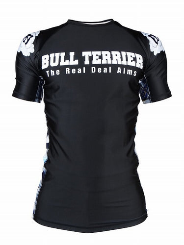 BULL TERRIER -ASHURA- Rash Guard Short Sleeve Black