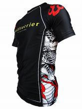 Load image into Gallery viewer, BULL TERRIER -MUSHIN- Rash Guard Short Sleeve Black/White