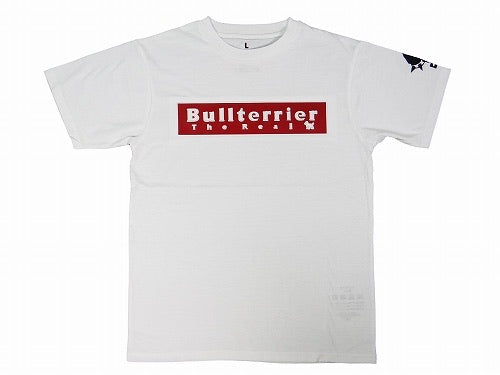 BULLTERRIER-3D LOGO-T-SHIRT WHITE