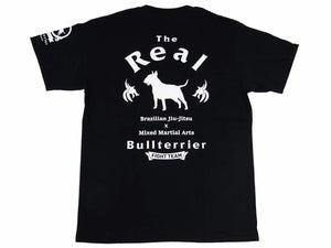 BULL TERRIER -The Real- T-Shirt White/Black
