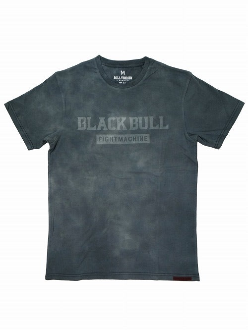 BLACK BULL-TIE-DYE LOGO-T-SHIRT LIGHT GRAY