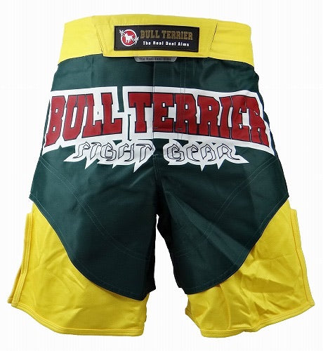 BULL TERRIER-MT FIRE GREEN/YELLOW-FIGHT SHORTS