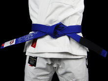 Load image into Gallery viewer, BULL TERRIER -MUSHIN- BJJ Belt Blue