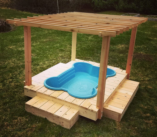 dogpools.shop One Dog One Bone Deluxe Pergola Kit