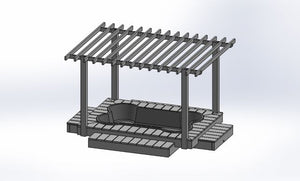 dogpools.shop One Dog One Bone Deluxe Bone Pool Deck Pergola Plans