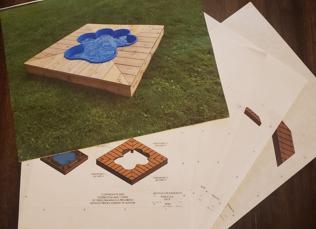 Deluxe Paw Pool Deck Kit Plans