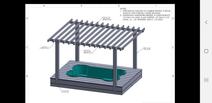 dogpools.shop One Dog One Bone Simple Bone Pool Deck Kit Pergola Plans