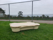 dogpools.shop onedogonebone Sand Bone Pool with Tan Cover