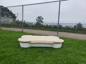 dogpools.shop onedogonebone White Bone pool with Tan cover