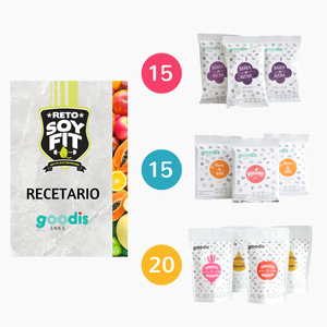 Kit 50 snacks con recetario saludable digital